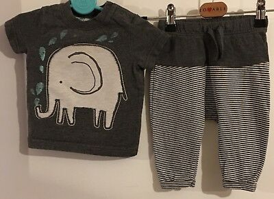 Baby Boys Next Short Sleeved Top And Trousers Set Age 3-6 Months
