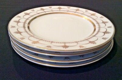 Palazzo Crescent Made In Japan Lot Of 4 Bread & Butter /Side Plates Gold N White