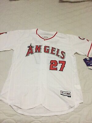 64125b55a52 NEW LA ANGELS Mike Trout jersey throw back edition XL Sz 48 -  40.00 ...