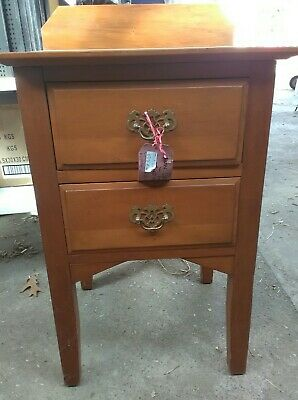 Antique Oak low boy bedside cabinet