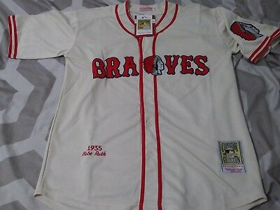 quality design 8319a 8e139 BABE RUTH BOSTON Braves 1935 Retro Jersey XXL Sz 52 - $40.00 ...