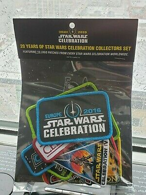 Star Wars Celebration Chicago 2019 20th Anniversary 13-patch set Exclusive