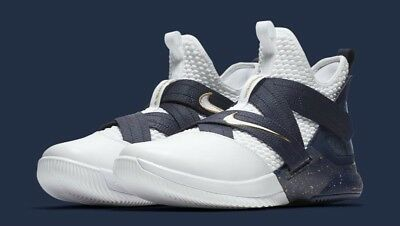 b1fe9cf5491 Nike Lebron Soldier XII 12 SFG Mens AO4054-100 White Midnight Navy Size 9.5