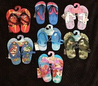 PRIMARK Girls Boys Kids Beach Pool Sandals Flip Flops Thongs DISNEY Children's