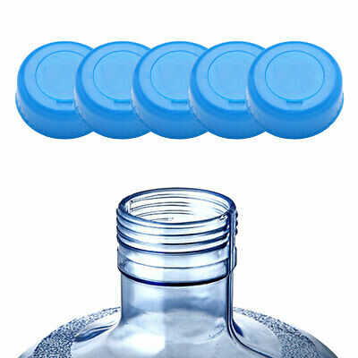 e4ed38e637d 5Pc Plastic 55mm Gallon Water Bottle Screw On Cap Anti Splash Barreled Water  Lid