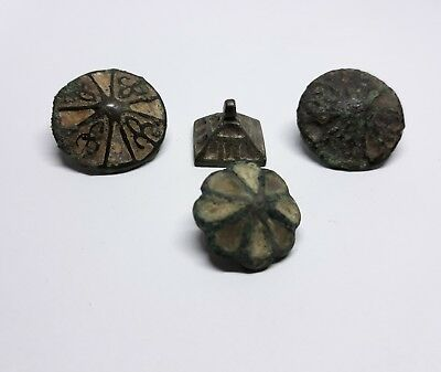 Collection Viking of buttons there enamel 9-11 century.
