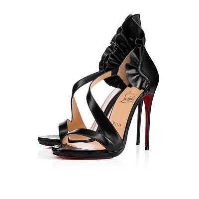 9f0a19f5610 CHRISTIAN LOUBOUTIN BLACK Colankle 120mm Nappa Heels Size 41 1/2 ...