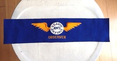 Vintage Wwii Era Us Army/Air Force Aws Observer Armband
