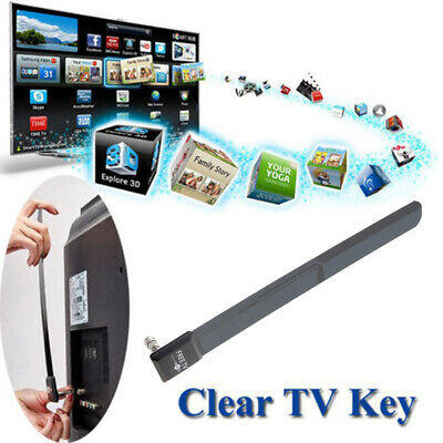 2018!Clear TV Key HDTV FREE Digital Indoor Antenna Ditch Cable FM As Seen on TV