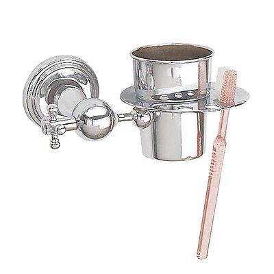 Chrome Brass Toothbrush Holder Brush Cup Tumbler Holder | Renovator's Supply