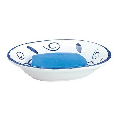 Bathroom Soap Dishes Blue/White Neptune Ceramic Dish | Renovator's Supply