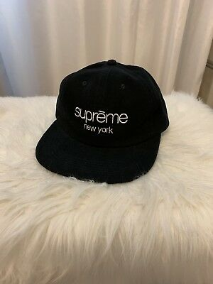 517468ee930 Supreme Classic Logo 6 Panel Hat ( Black ) SS18
