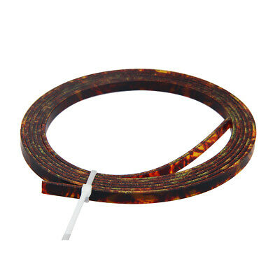 5 Feet Celluloid Acoustic Guitar Binding Purfling Strip 5mm x 1.5mm Brown