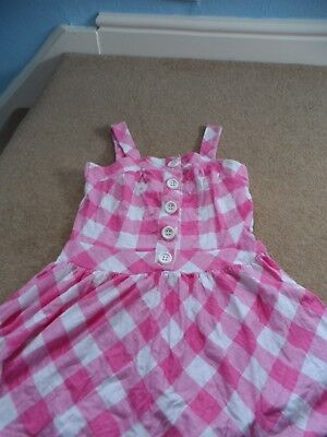 girls next pink and white checked summer top 11 years