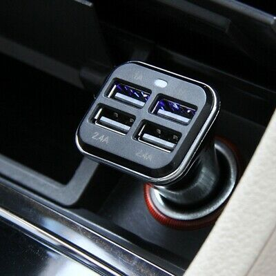 HAWEEL Universal 4 USB Ports Car Charger for Smartphone /Tablet PC UK Warehouse