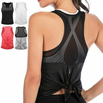 b108c4475f005a Women Activewear Sexy Open Back Yoga Shirt Workout Sports Gym Tank Tops  Vest Top