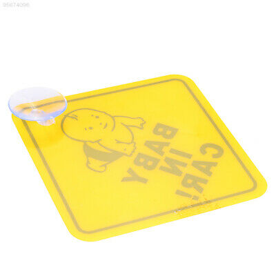 Baby Cartoons Safety Sign Decal Awakening Yellow Plastic Car Accessories Safe