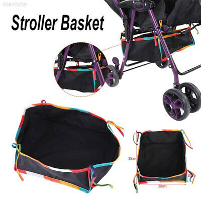 AE3A Baby Stroller Basket Creative Useful Pram Buggy Storage Organizer Oxford