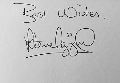 Steve Ogrizovic HAND SIGNED White Card Coventry 1987 LIVERPOOL *In Person*COA