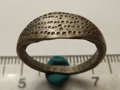 3941Ancient Celtic silver ring with decoration , 2.82gr.16mm