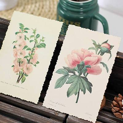 30Pcs/Box Vintage Flower Card Postcard Greeting Card Note Cards Bookmark