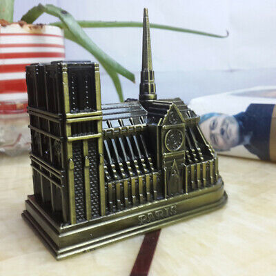 Vintage Metal 3D Model Cathedral of Notre Dame de Paris France French Souvenir