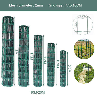 PVC Coated Galvanised Welded Wire Chicken Rabbit Aviary Mesh Fence Garden Hutch
