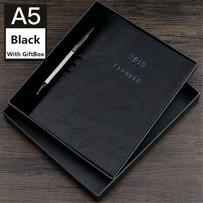 2019 A5 Notebook Planner Monthly Weekly Schedule Diary Study Work StationeryGift