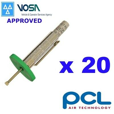 20 x PCL VOSA Approved Tyre Tread Depth Gauge Car Truck Motorcycle For MOT