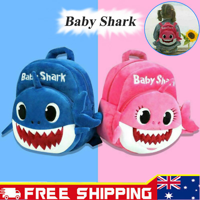 2019 Kids Children Baby Shark School Bag Cute Plush School Backpacks New