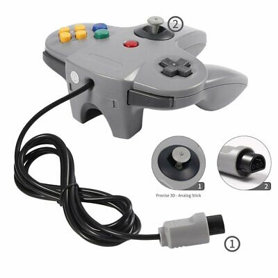 Game Controller Joystick for Nintendo N64 System N-6 GamePad Gray