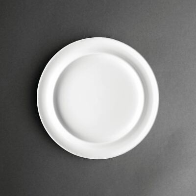 "Kristallon Heritage Raised Rim Plates White 252mm | 10"" (Ø). Pack Quantity: 4"