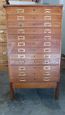 Curio cabinet 12 glazed drawers, for butterflies, minerals, shells, collectibles