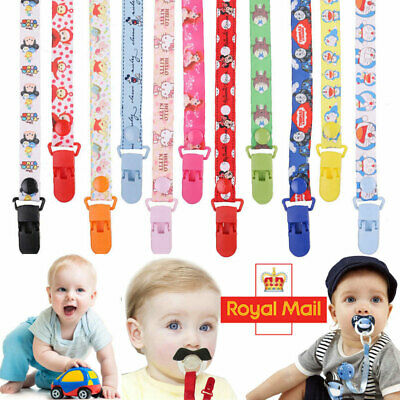 Baby Boys Girls Sporty Themed Dummy Soother Clip Pacifier Strap Newborn Dummy UK
