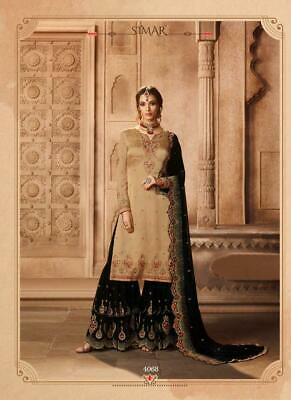 e4e3ac01ce Designer Pakistani Heavy Work Eid Plazo Indian Bridal Sharara Gharara Suit  GL1