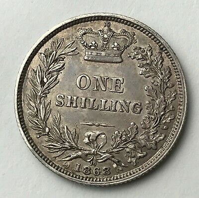 Dated : 1868 - Silver Coin - One Shilling - Queen Victoria - Great Britain