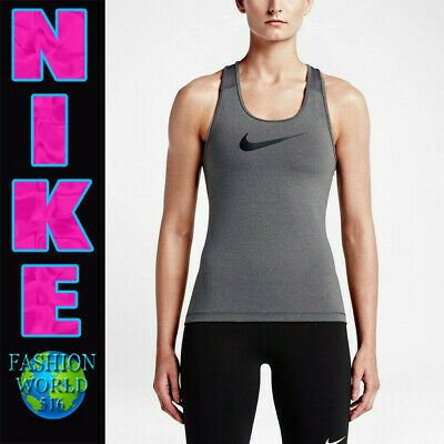05c940777c95 Nike Pro Women s Size Xs Dri Fit Training Tank Top 849986 021 Nwt Grey black