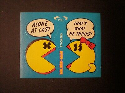 1981 Fleer Ms. Pac-Man Sticker No.43 of 54 Alone At Last That's What He Thinks