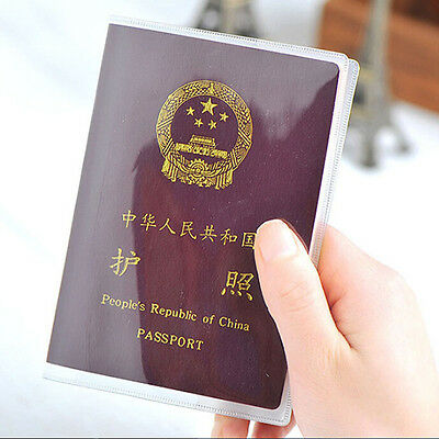 Clear Transparent Passport Cover Holder Organizer ID Card Travel Protector H&LJ