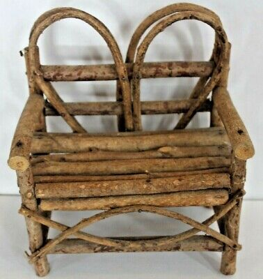 Doll or Bear Chair  Miniature Primitive Americana Farmhouse Design Chair Cute!