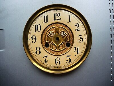 ANTIQUE German wall clock Gustav Becker BRASS DIAL mount JUNGHANS PARTS  RESTORE
