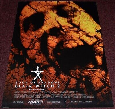 *BOOK OF SHADOWS: BLAIR WITCH 2* 2000 ORIG. 27x40 DS MOVIE POSTER! SCARY HORROR!