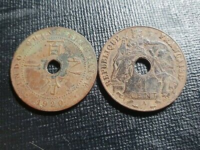 Indochina 1 cent poor grade, 1 coin