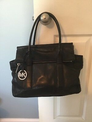 87c6ca5205c6 MICHAEL KORS GUNMETAL TT Jet Set Shoulder Bag Genuine Leather NWT ...