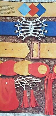 Vintage Pattern, Suede   Belts With Buckle Mens Childrens Women Reproduced