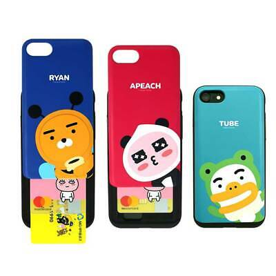 Cover Skin Protection Kakao Friends Sliding Card Holder For Apple iPhone Case