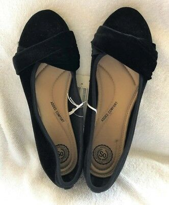 7996b4c5923 American Heritage Women s BLACK Slip On Flats Size 8.5 Shoe Twist Overlap  Detail