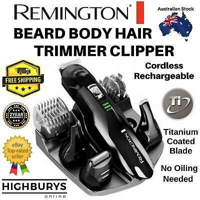 REMINGTON Shaver Cordless Beard Trimmer Mens Nose Ear Hair Clippers Grooming Kit