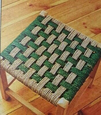 Vintage Pattern,How to Make Sea Grass weaved Seating Childrens stools Reproduced