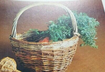 Vintage Pattern How to make a Small Round Basket out of Cane Raffia   Reproduced